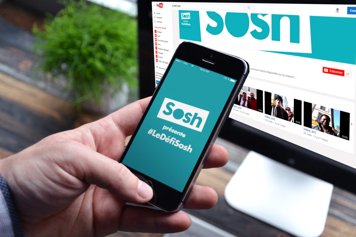 le défi sosh Application IOS ANDROID Street marketing by TIRIA